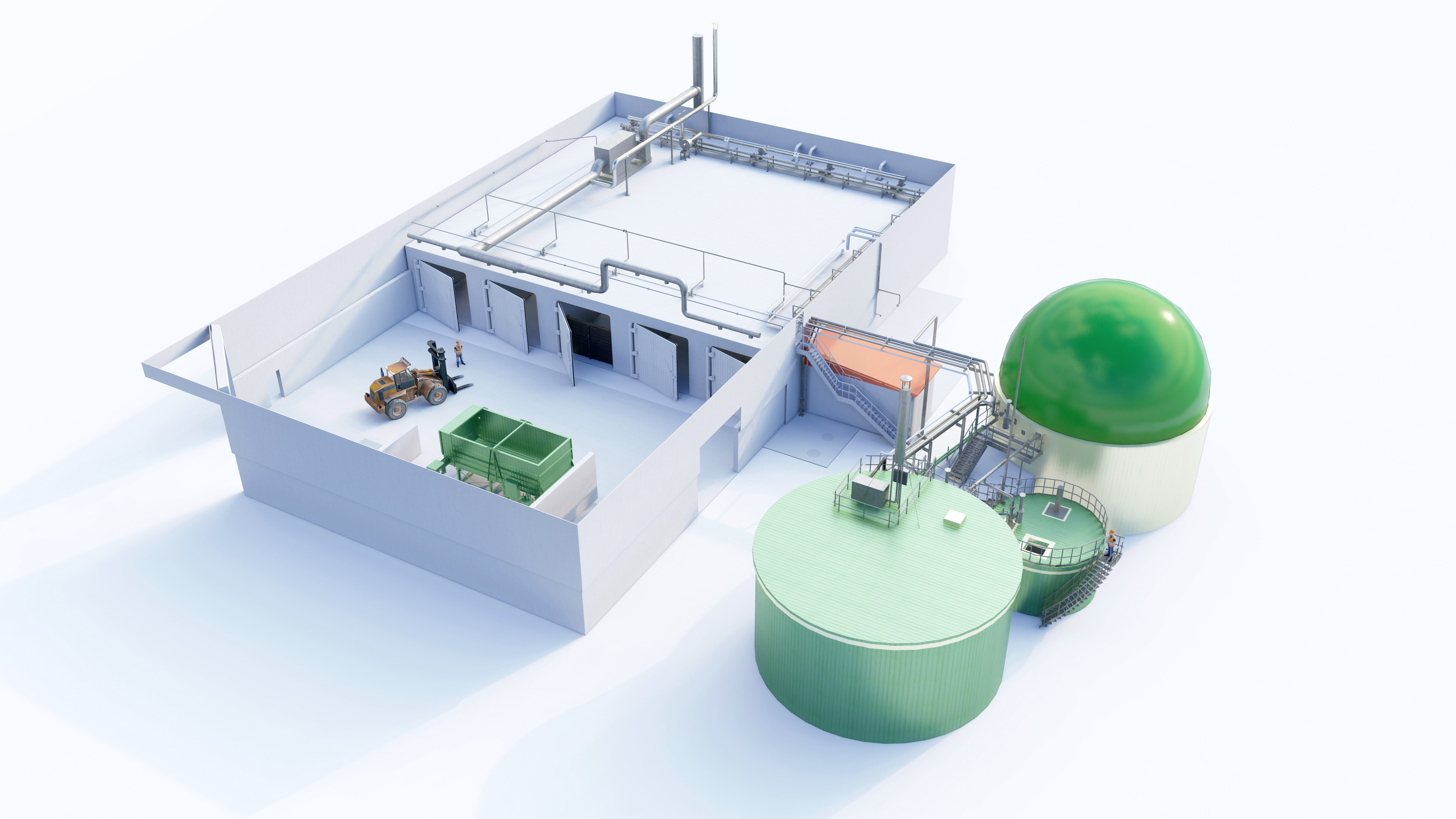 Dry  solidstate anaerobic digestion AD biogas plant.jpg